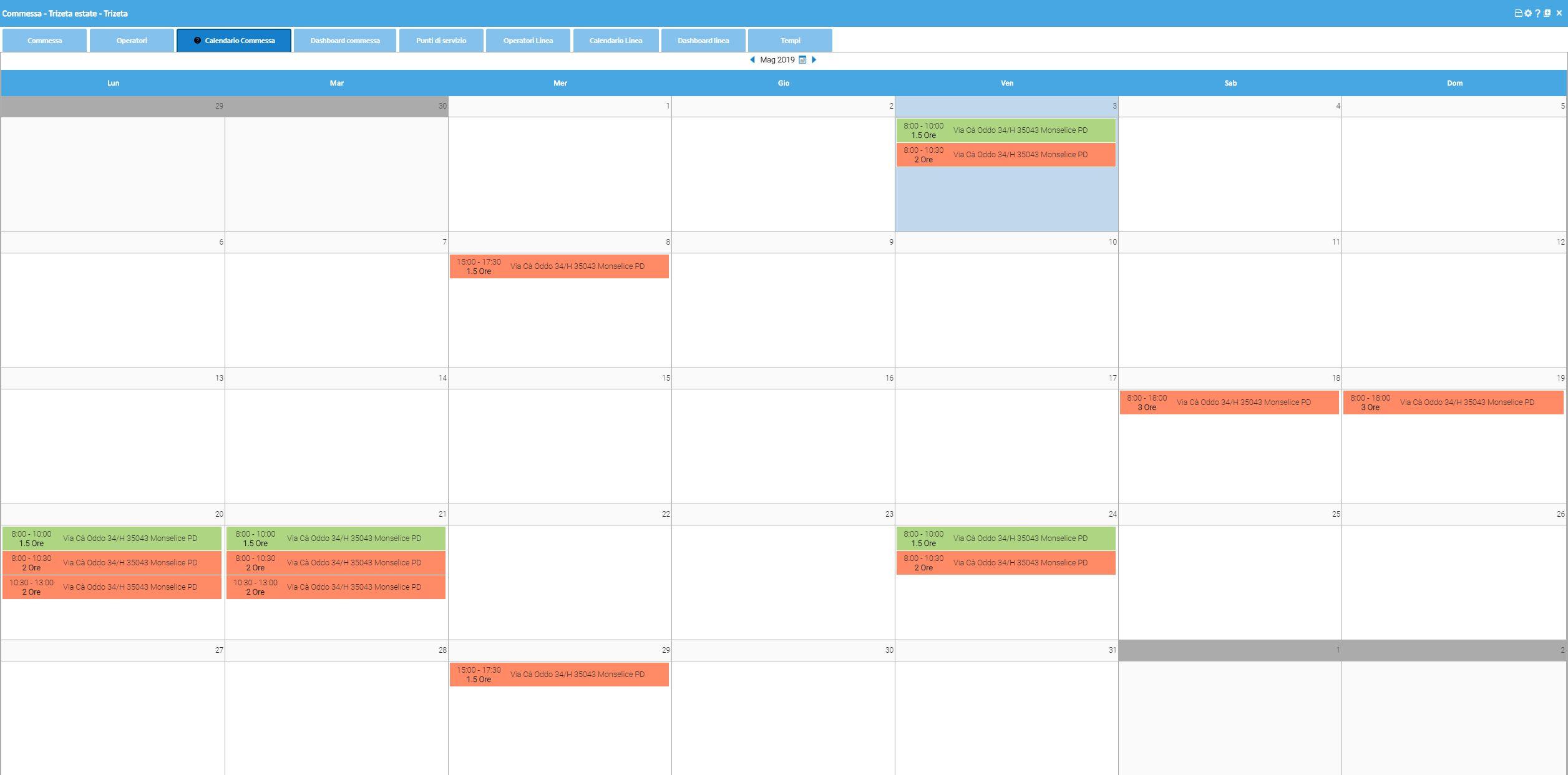 Calendario Pulizie.Software Per La Pianificazione E Rendicontazione Di Servizi