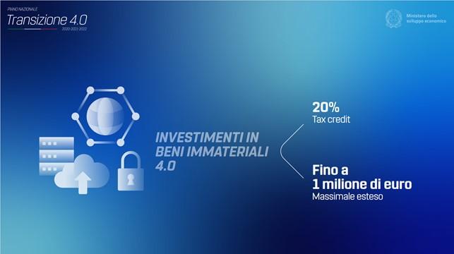 Transizione 4.0 - beni immateriali - credito d'imposta